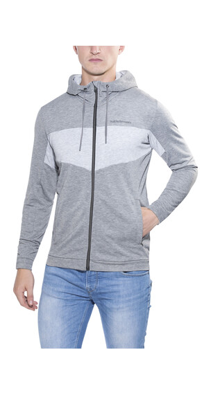 Peak Performance Structure Zip Hood - Chaqueta Running - gris